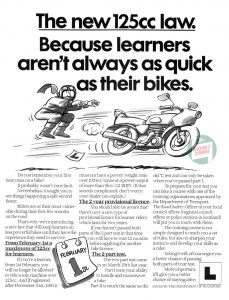 Learner Legal 125cc Law 1983